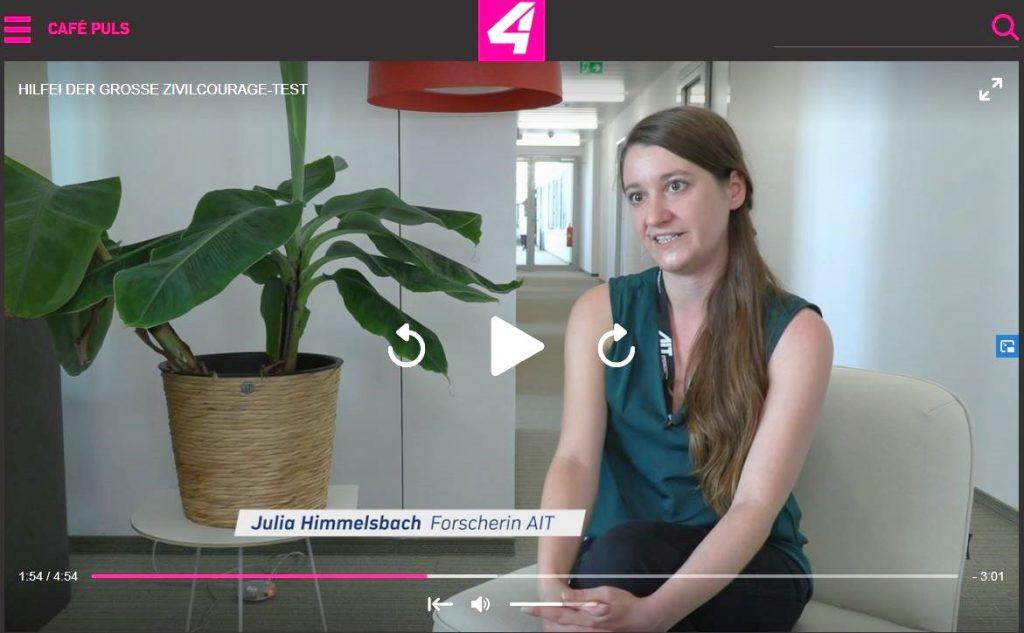 Julia Himmelsbach im PULS4-Interview